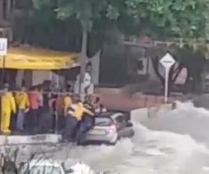 El fuerte aguacero que se registra en Barranquilla ha causado emergencias