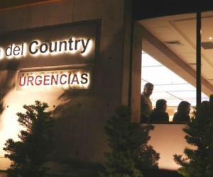 Fachada de la Clínica del Country a donde fueron llevadas las personas heridas en el Centro Comercial Andino.