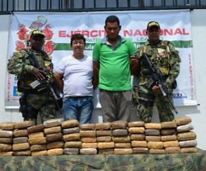 Aspecto de los capturados por tráfico de droga.