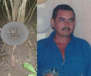 El Cuerpo que al parecer es el de Fredy Pedrozo fue encontrado en el camino que del corregimiento de Peñoncito conduce al municipio de Pijiño del Carmen.