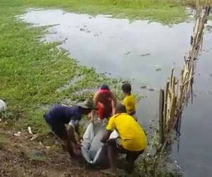 Pescadores de la Ciénaga de Chilloa encontraron el cuerpo.