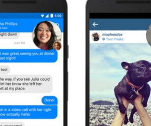 Burbuja de Facebook Messenger en WhatsAap