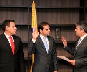 Alfredo Varela durante su posesión.