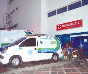 El taxista herido en el atentado a bala fue internado en la clínica Cehoca. Foto de Archivo.