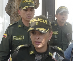 Coronel Sandra Vallejos, comandante de la Policía Metropolitana de Santa Marta.
