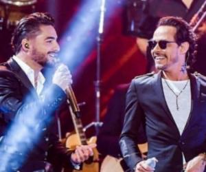 Maluma y Marc en los Premios Juventud.