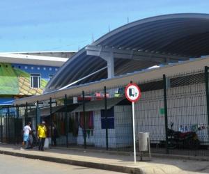 Así se ve ahora la cubierta en la galería comercial del Mercado Público.
