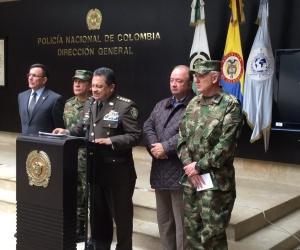 En rueda de prensa se informó sobre el abatimiento del hermano de el 'Gavilán'.