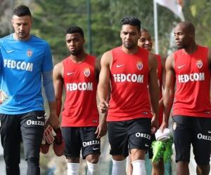 El 'Tigre' Radamel Falcao García durante un reciente entrenamiento del AS Mónaco.