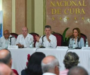 Visita de Santos a Cuba.