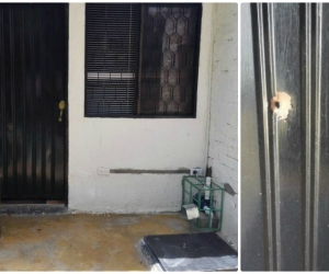 Los vecinos hicieron dos disparos a la puerta de la casa del supuesto denunciante.