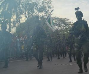 Desfile Militar de Santa Marta realizado el 20 de julio de 2016.