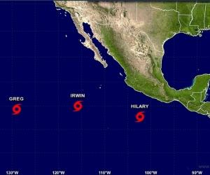 Hilary pasó de depresión a tormenta tropical en la noche del sábado.