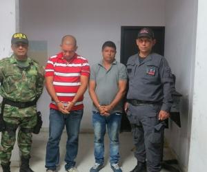 Dos de los 14 detenidos.