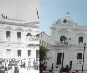 Antes y ahora de Santa Marta.