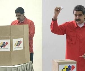 Nicolás Maduro, presidente de Venezuela, fue el primero en votar.