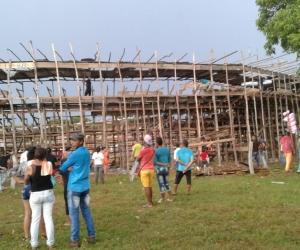 Comunidad se llevó las tablas como represaría por la no presentación de la jornada taurina.