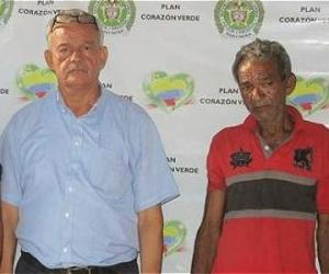 El conductor Jaime Gutiérrez Ospino y el líder espiritual Manuel Salvador Ibarra presos en Barranquilla.