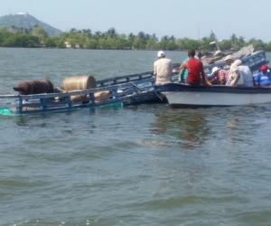 Los nueve náufragos fueron trasladados a Cartagena donde fueron atendidos.