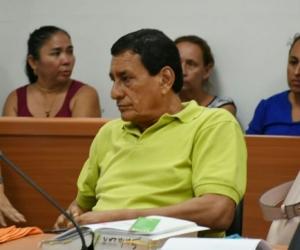 El abogado de la defensoría, Jaime Salazar Quintero, durante audiencia.