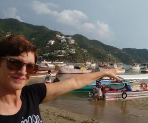 Se llama D' Lucie Lacaf y hace 20 años vive en Santa Marta,