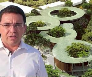 Rafael Martínez, alcalde de Santa Marta, regañó al contratista de la megabiblioteca fase 2.