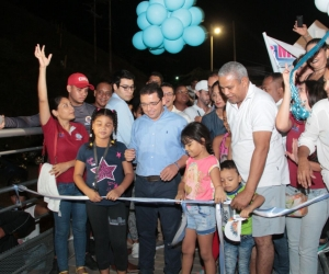 Rafael Martínez, durante la inauguración del sendero petaonal.
