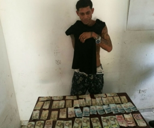 Mauricio Andrés Rosales Caña durante su detención.