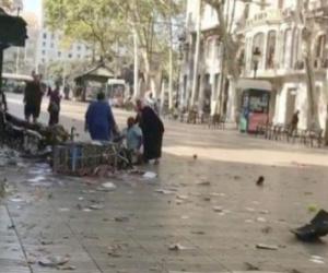 Las Ramblas, instantes después del atentado.