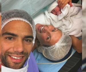 Esta fue la foto que publicó Falcao García tras el nacimiento de su hija.