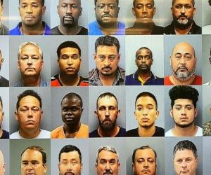 Los arrestos se produjeron en diferentes hoteles y moteles de la ciudad.