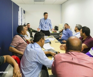 Mesa de concertación entre el Distrtito y los vendedores de la quinta