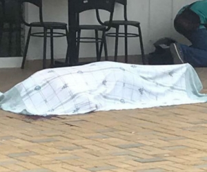 Uno de las víctimas del atentado.