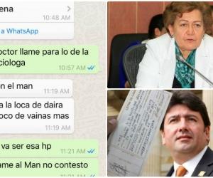 Dos de los 39 pantallazos del celular de Eric Tovío relacionan a Daira Galvis con el préstamo a Fabián Castillo.