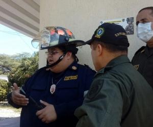 Ricardo Chaín, Comandante Operativo del Cuerpo de Bomberos de Santa Marta.
