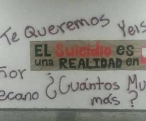 Mensajes en paredes de la Universidad