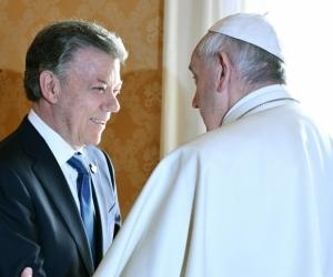 Presidente Santos y Papa Francisco
