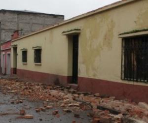 Daños a viviendas causó en Guatemala el sismo con epicentro en México.
