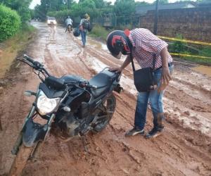 La lluvia ha dejado las vías de Guamal hacia otros corregimientos, e incluso hacia Mompox, en estado intransitable.