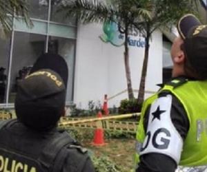 Policías en el lugar de los hechos