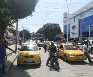 Caranava del gremio de taxistas