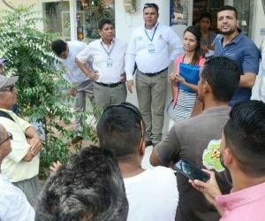 Secretarias de infraestructura y Salud se reunieron con la comunidad y líderes del barrio La Paz.