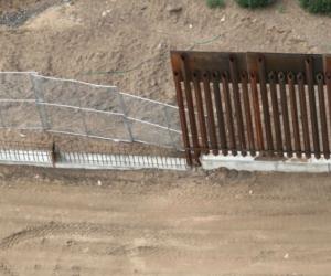 Muro frontera con México.