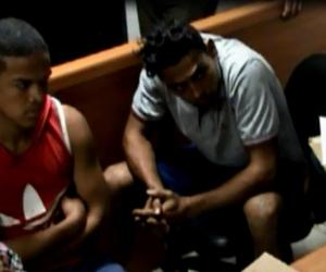 Gilbert Caicedo y Guillermo Jaramillo, duranta la audiencia.