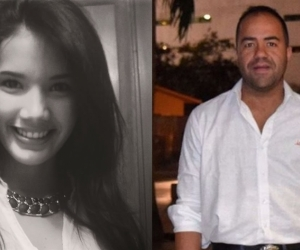 La comunicadora Luz Milagros Meneses Maestre y Andrés Miguel Pérez Smith, hijo del exgobernador de La Guajira.