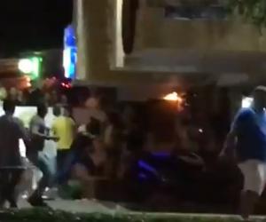 La trifulca fue en la calle 82, conocido sector de la rumba en el norte de Barranquilla.