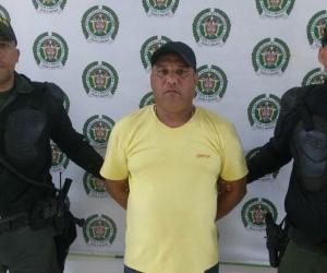 El capturado Alberto Villar Núñez, alias 'El Soldado'.