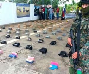 La droga incautada en Panamá.