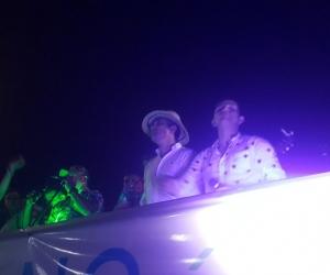 Franklin Lozano no se perdió la celebración del Caimán Cienaguero.