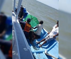 Embarcación rescatada.